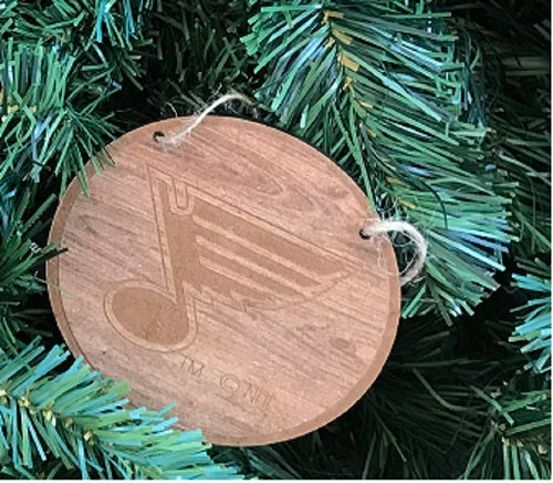St. Louis Blues Primary Wood Ornament