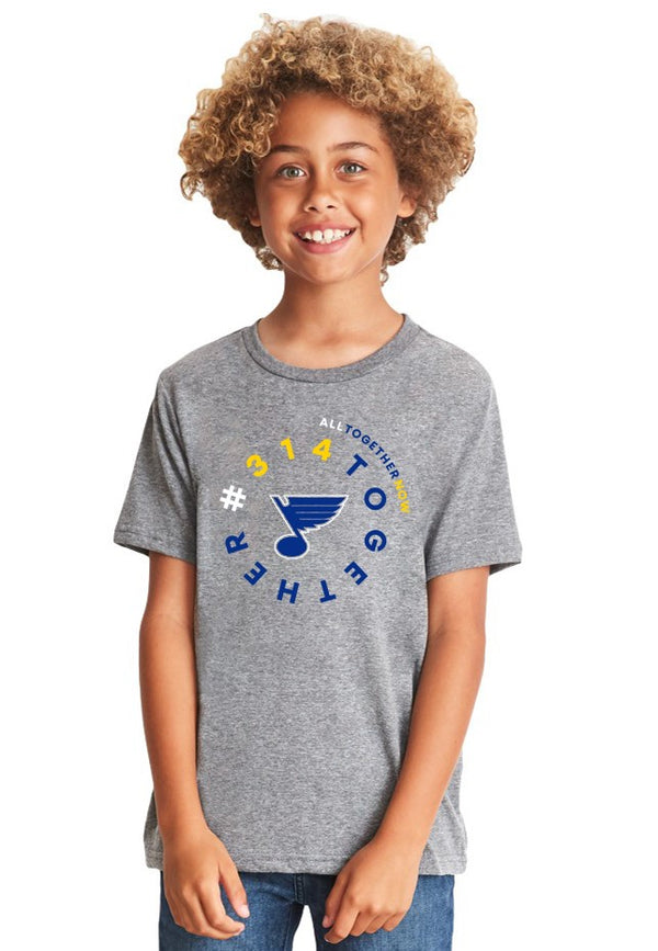#314TOGETHER ST.LOUIS BLUES YOUTH TRI-BLEND TANGO TEE - STL Authentics
