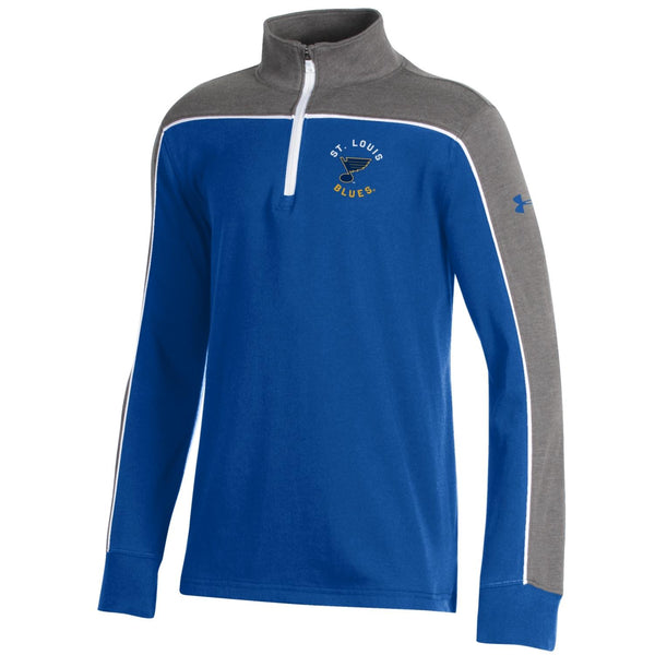 St. Louis Blues Youth 1/4 Zip Tri Color