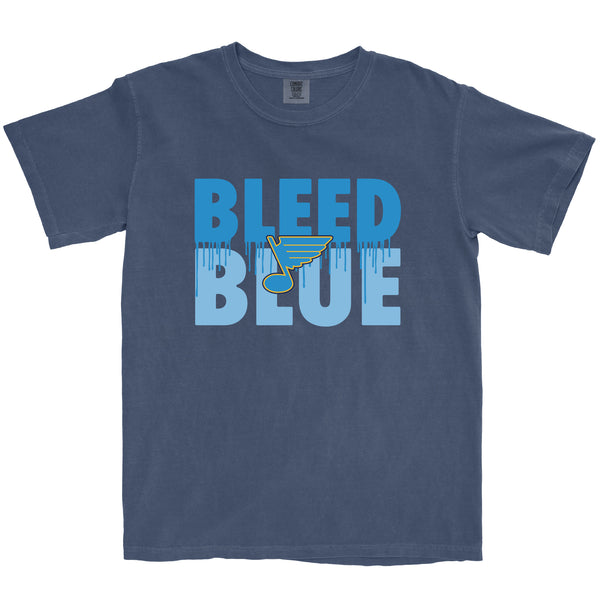 Bleed Blue Navy T-shirt - STL Authentics