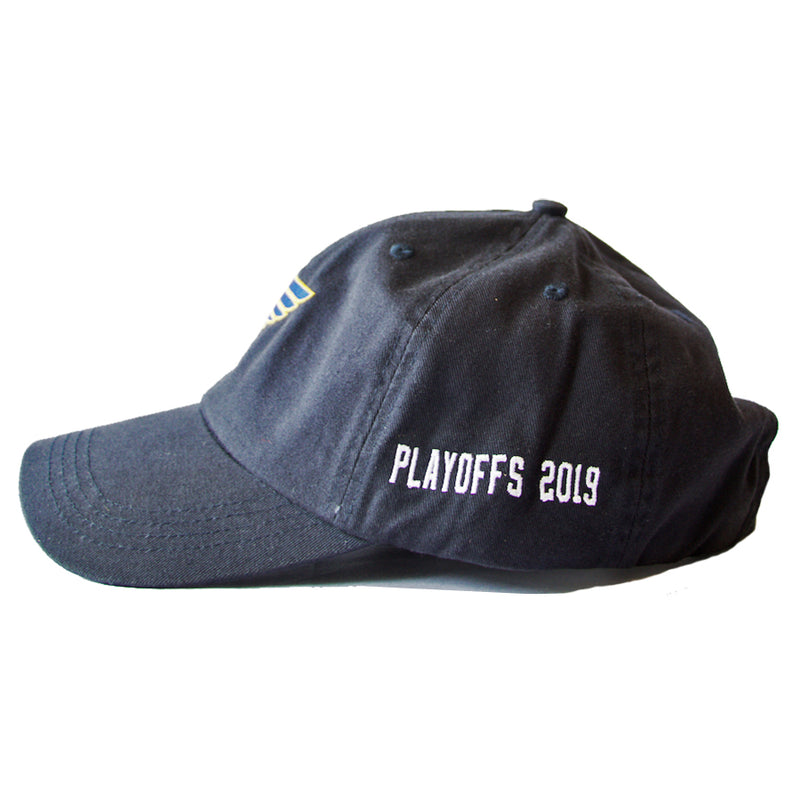 St. Louis Blues Note Logo 2019 Playoffs Adjustable Slouch Cap - Navy