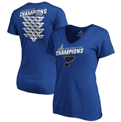 St Louis Blues Ladies Jersey Roster Tee - STL Authentics