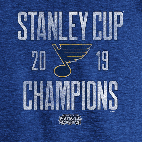 St. Louis Blues Fanatics 2019 Stanley Cup Champions Crease Tri-Blend - STL Authentics