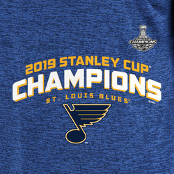 St. Louis Blues Fanatics 2019 Stanley Cup Final Champions Linesman Poly L/S Tee - ROYAL - STL Authentics