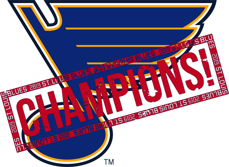 St.Louis Blues Fishbowl Champions Stamped Tee - STL Authentics