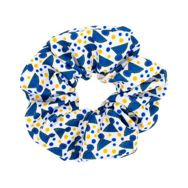 Wee Ones Blues Note Dot Print Scrunchie