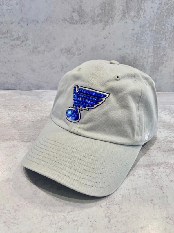 BLUE NOTE '47 GRAY WITH ROYAL NOTE CLEAN UP CRYSTAL HAT
