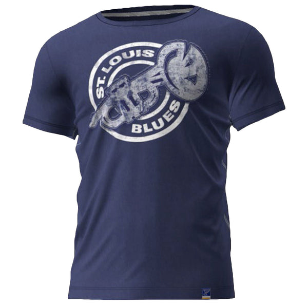 SAUCE SS CREW TEE - TRUMPET BLUES DARK BLUE - STL Authentics