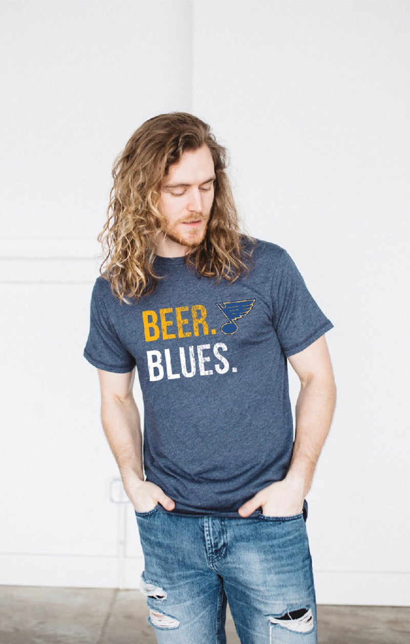 Beer. Blues 2Lu Triblend tee - STL Authentics