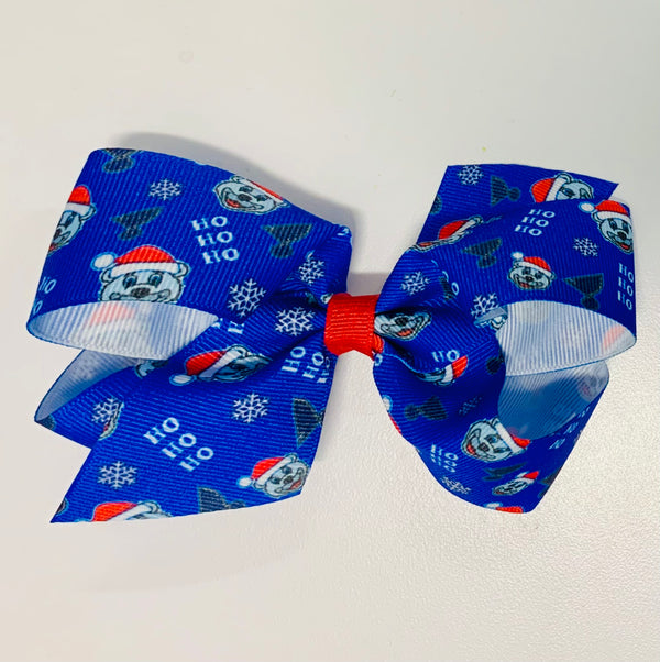 Sublime Design Medium Holiday Bow with Louie & Blue Note