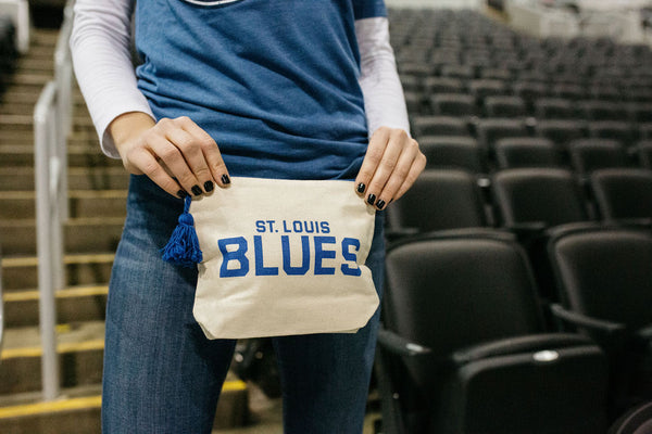 ST.LOUIS BLUES CANVAS COSMETIC BAG