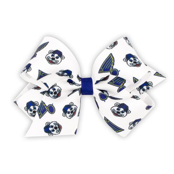 St. Louis Blues Wee Ones Medium Bow with Louie and Blue Note Print - STL Authentics