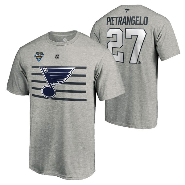 St. Louis Blues Fanatics Alex Pietrangelo 2020 NHL All-Star Game Name & Number Tee - Gray - STL Authentics