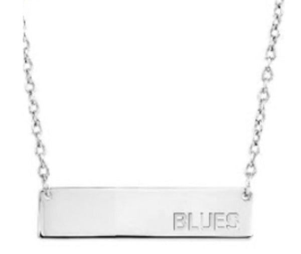 St. Louis Blues Stainless Steel Blues Bar Necklace