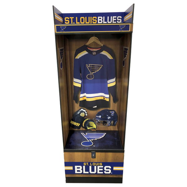 St. Louis Blues LockerSource Corrugated Linerboard Sports Locker - STL Authentics
