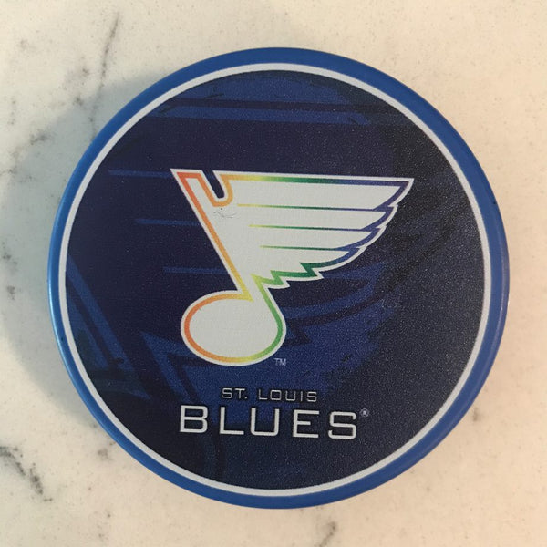 St. Louis Blues Rainbow Color PRIDE Puck - STL Authentics