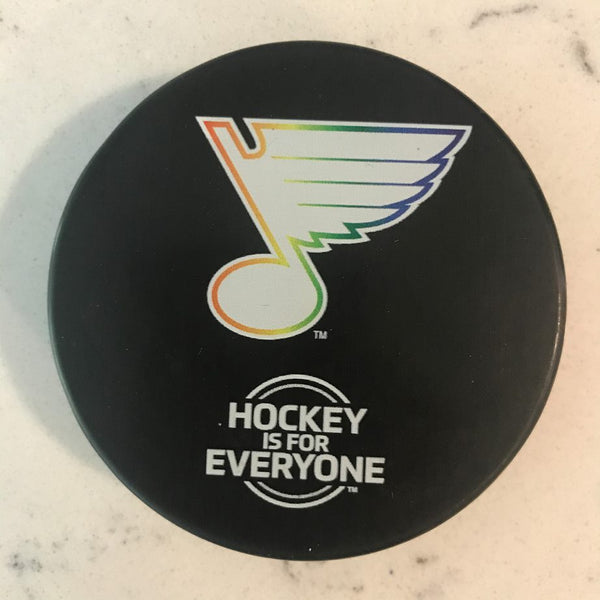 St. Louis Blues Rainbow PRIDE Puck - STL Authentics