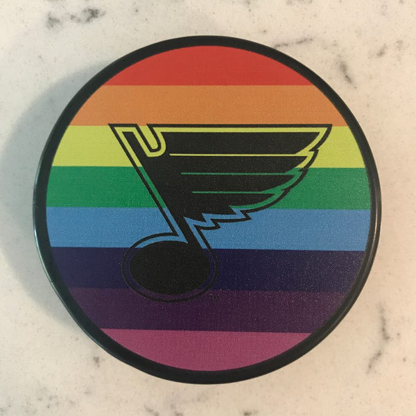 St. Louis Blues PRIDE Tape Puck - STL Authentics
