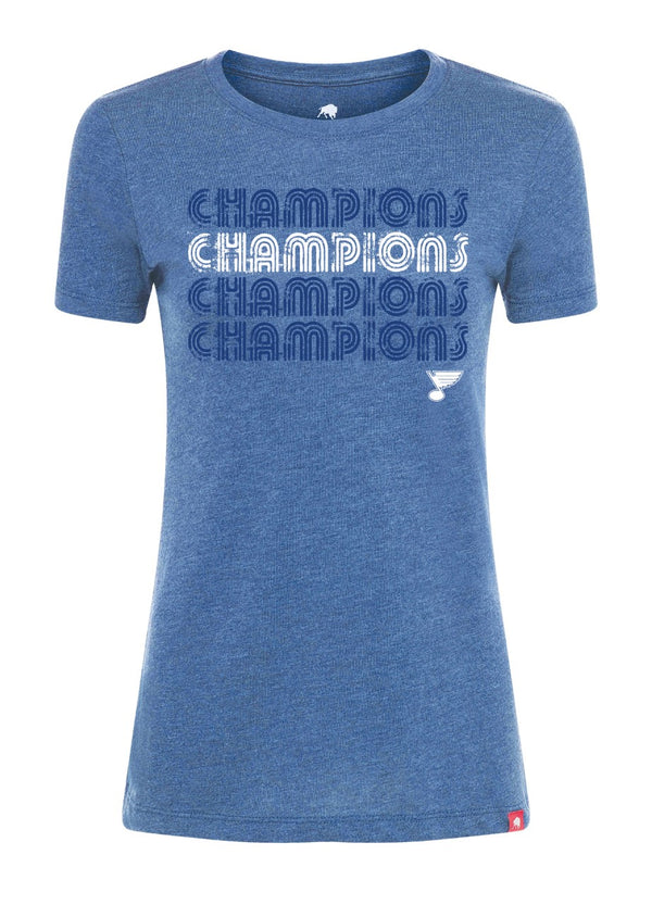 St Louis Blues Diana CHAMPIONS Tee - STL Authentics