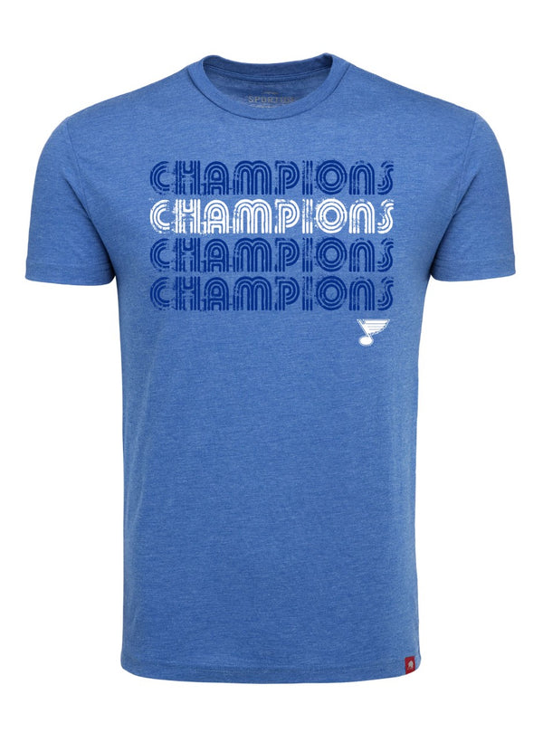 St Louis Blues Lil Comfy CHAMPIONS Tee - STL Authentics