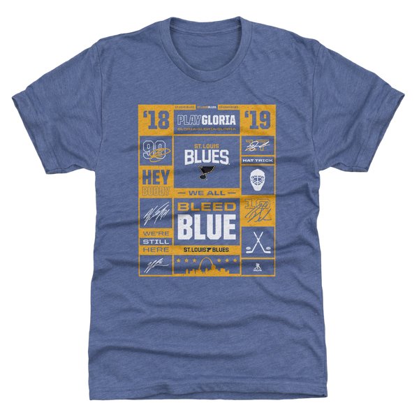 St Louis Blues Playoffs Collage Tee - STL Authentics