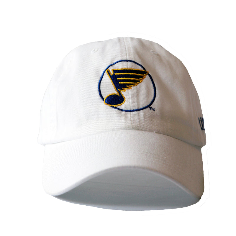 St. Louis Blues Circle Note Logo 2019 Playoffs Adjustable Slouch Cap - White