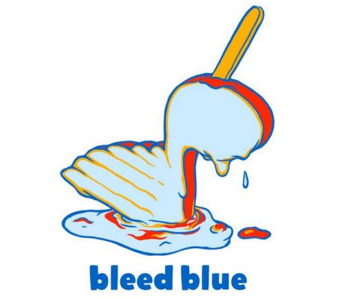 Youth Bleed Blue Popsicle Triblend Tee - STL Authentics