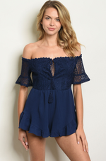 Navy Lace Boss