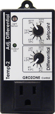 Grozone TP2 Temp Controller w/ Adj Differential