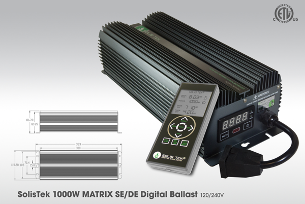 SolisTek Matrix (Single/DE Bulbs) 1000 W