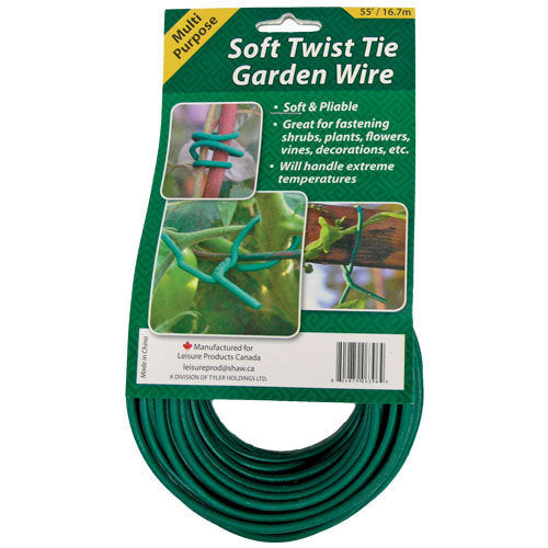 SOFT WIRE TIE - Green 55 ft