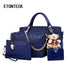 ETONTECK Women Bag Top-Handle Bags Female Famous Brand 2018 Women Girls Messenger Bags Handbag 4 Set PU Leather Composite Bag