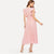 Pink Sleeveless Fit and Flare Solid Maxi Party Dresses