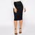 Solid Knee Length Mid Waist Bodycon Pencil Skirt