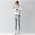 Plus size Loose Ankle-Length Pants Skinny Jeans