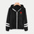 Varsity-Striped Zip Up Hooded Jacket And Coat