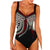 Plus Size One Piece Swimsuit Halter Print Bathing Suit
