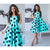 Women Bohemian Dot Printed A-line Party Dress