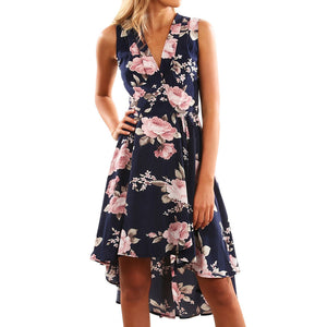 Off Shoulder Floral Short Mini Dress