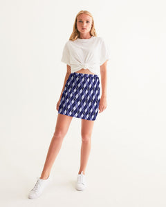 Dwayne Elliott Collection Blue Argyle Women's Mini Skirt - Dwayne Elliott Collection