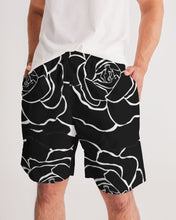 Load image into Gallery viewer, Dwayne Elliot Collection Black Rose Men's Jogger Shorts - Dwayne Elliott Collection