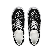 Load image into Gallery viewer, Dwayne Elliot Collection Black Rose Lace Up Canvas Shoe - Dwayne Elliott Collection