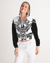 Load image into Gallery viewer, Dwayne Elliott Collection  Women's Cropped Windbreaker - Dwayne Elliott Collection