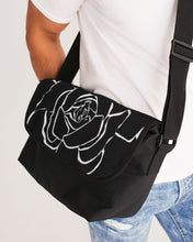 Load image into Gallery viewer, Dwayne Elliot Collection Black Rose Messenger Bag - Dwayne Elliott Collection