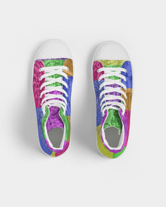 Skull Bow Women's Hightop Canvas Shoe