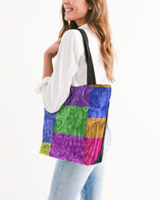 Load image into Gallery viewer, Skull Bow Canvas Zip Tote
