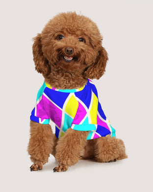 Argyle Cotton Candy Doggie Tee