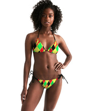 Load image into Gallery viewer, Dwayne Elliott Colection RBG Women's Triangle String Bikini - Dwayne Elliott Collection