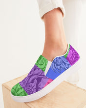 Load image into Gallery viewer, Skull Bow Women's Slip-On Canvas Shoe