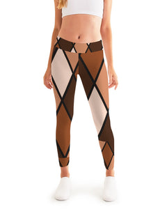 Dwayne Elliott Collection Brown Argyle Women's Yoga Pant - Dwayne Elliott Collection